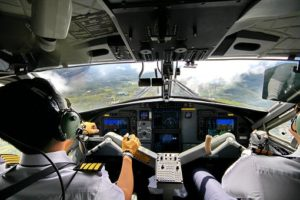 Two Pilot in Cockpit
